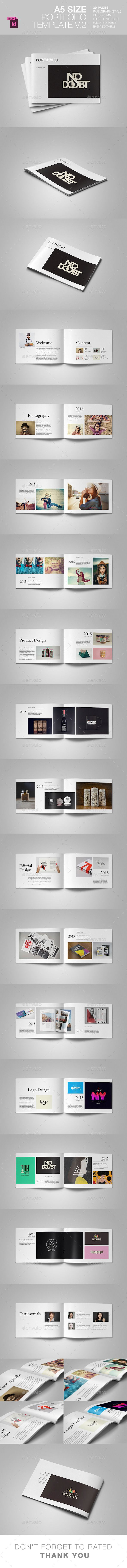 A5 Portfolio Template V.2  —  InDesign Template • Only available here! →…