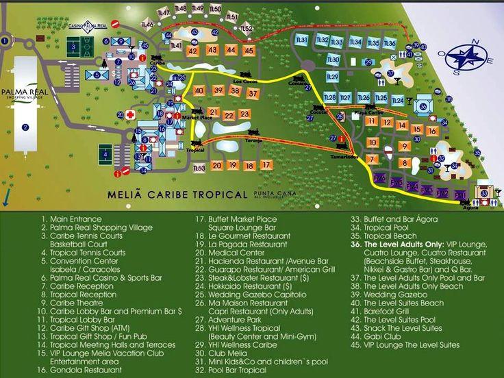 Map Layout Melia Caribe Tropical