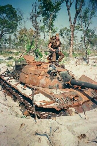 T55 destroyed at Cuito