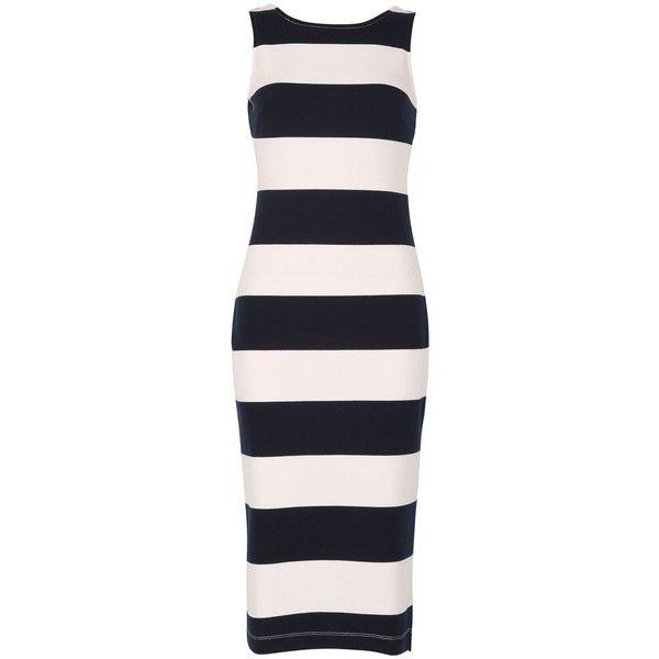Izabel London Sleeveless Nautical Stripe Dress ($31) ❤ liked on Polyvore featuring dresses
