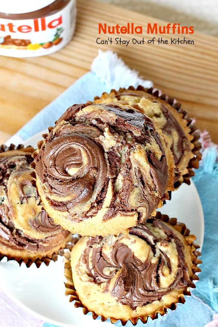 Nutella Muffins | Can't Stay Out of the Kitchen | you'll be drooling after one bite of these spectacular #nutella #muffins! Great for #breakfast or #dessert!