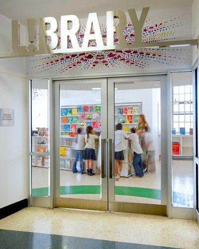 27 best School Library Doors and Entrances images on