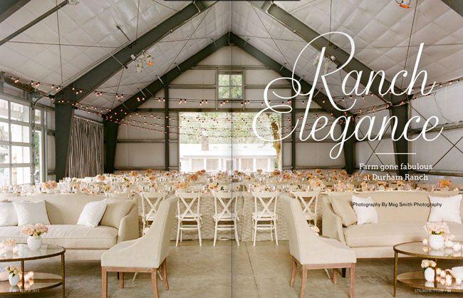 carpa granero decorada para boda idea luces techo