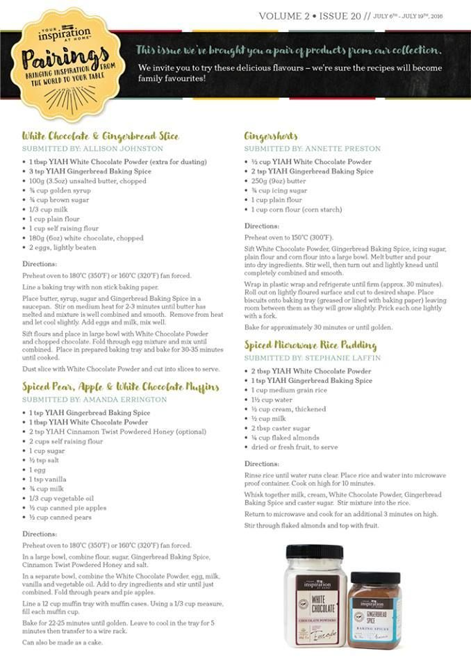Check out these tasty recipes!!