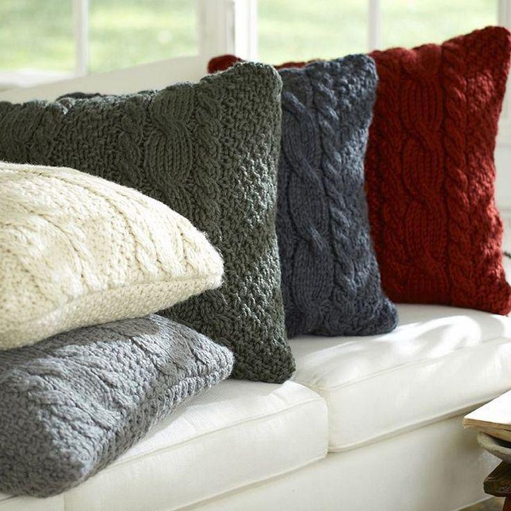 DIY $7 Sweater Pillows