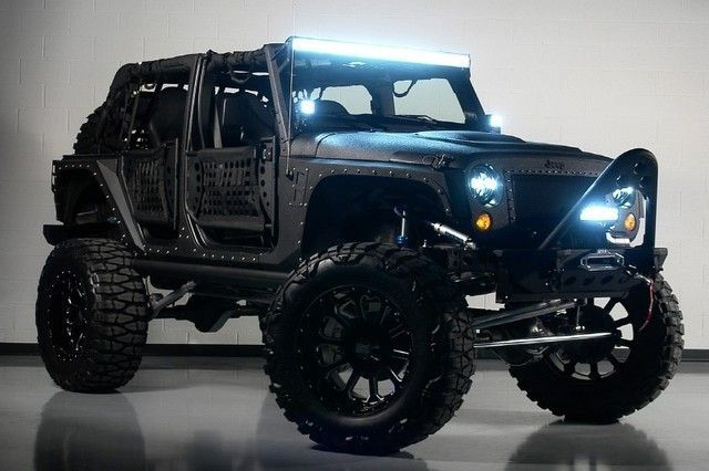 Never been one for blinged out rims on a Jeep but the lights and the suspension setup are killer.