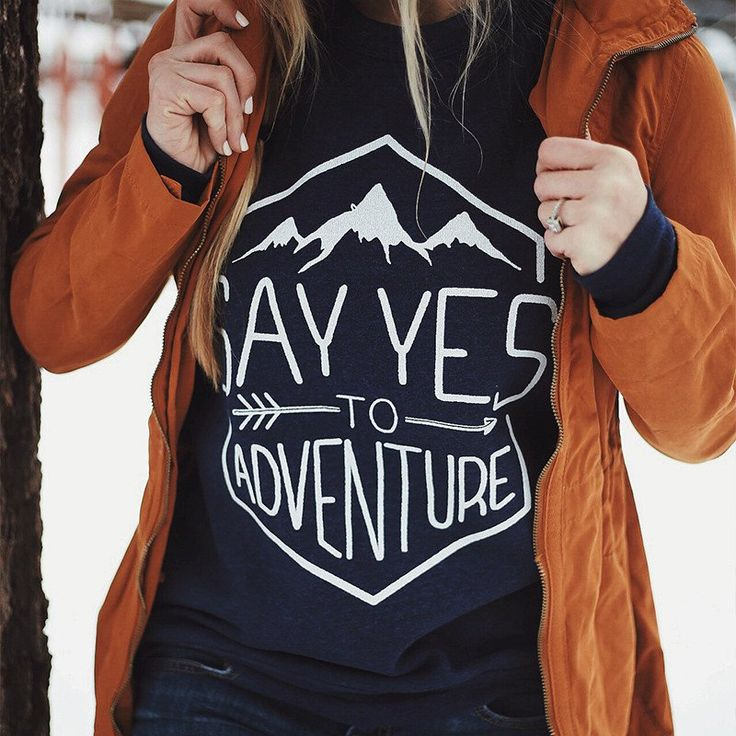 Say Yes To Adventure Sweater - Women's Hiking Clothing - http://amzn.to/2h7hHz9