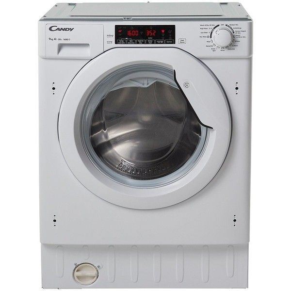 Candy Cbwm 916Twh 9Kg Load, 1600 Spin Integrated Washing Machine (1.820 BRL) ❤ liked on Polyvore featuring home, home improvement and cleaning