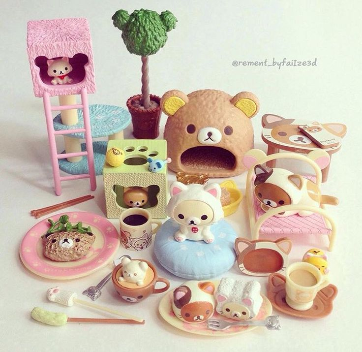 Rilakkuma Cat cafe. Pic by @rement_byfaiize3d | Re-ment ...