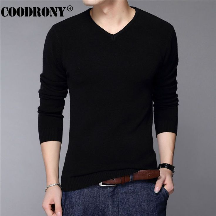 COODRONY Casual Slim Fit Sweater Men Classic Pure Black Pullover Men Solid Color V-Neck Pull Homme Cashmere Wool Sweaters Shirts     Tag a friend who would love this!     FREE Shipping Worldwide     Get it here ---> https://onesourcetrendz.com/shop/all-categories/mens-clothing/mens-sweaters-cardigans/coodrony-casual-slim-fit-sweater-men-classic-pure-black-pullover-men-solid-color-v-neck-pull-homme-cashmere-wool-sweaters-shirts/