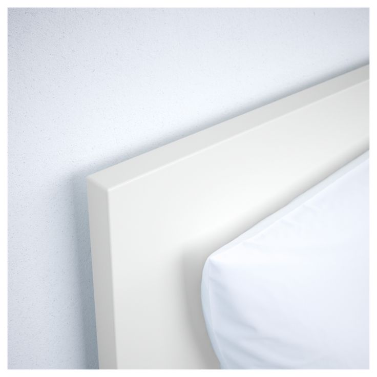 IKEA - MALM High bed frame/2 storage boxes white, Leirsund