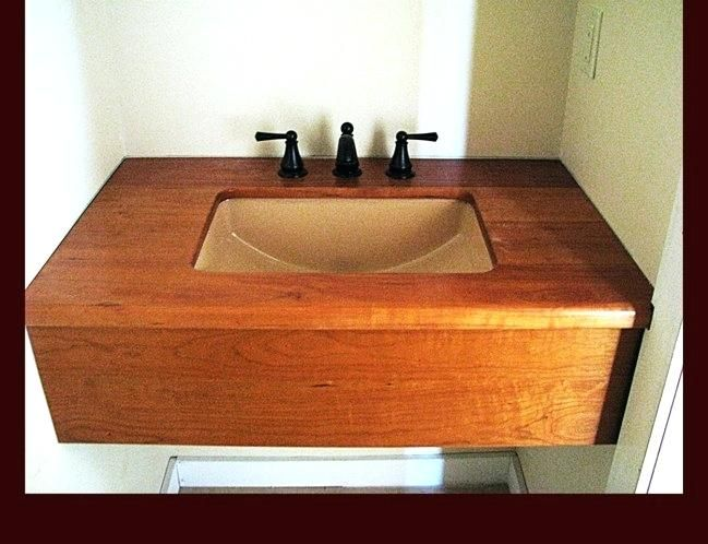 10 Best Custom Wood Bathroom Vanity Tops Images On