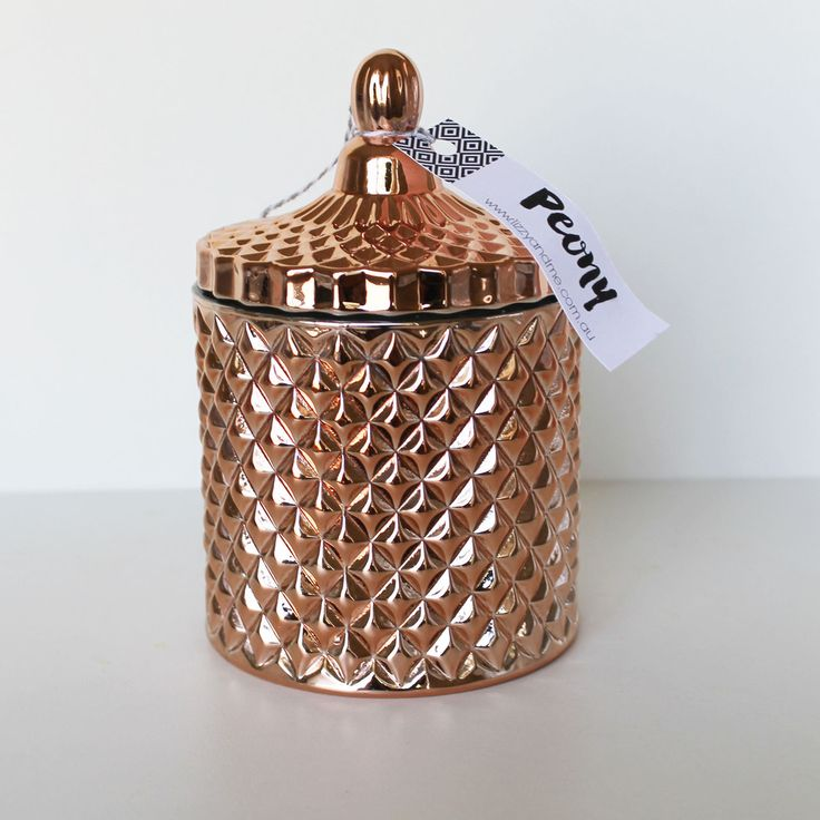 Luxary Range - Copper Ceometirc Jar with Lid