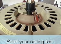 paint your ceiling fan without removing it from the ceiling, how to, painting, wall decor