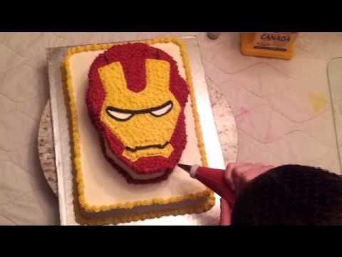 Specialty Cake - Ironman Mask