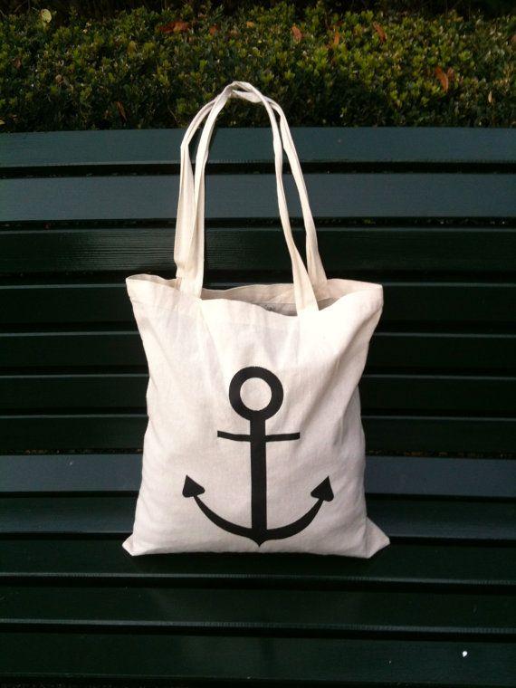 """cotton bag """"anchor"""""""