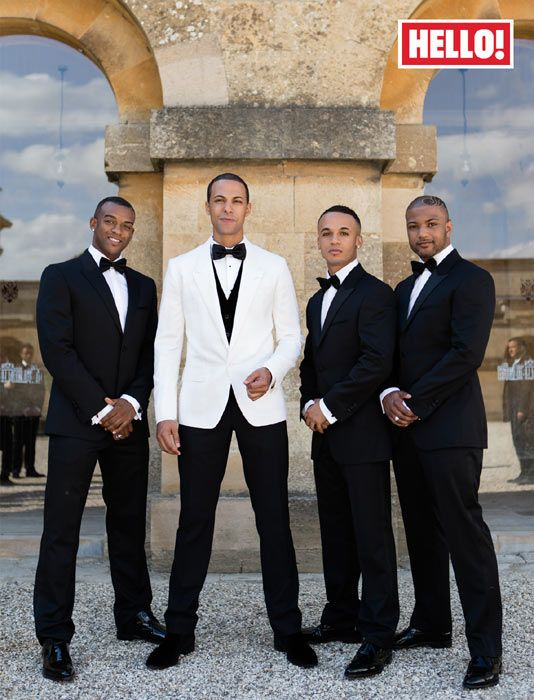 Marvin Humes and groomsmen JLS