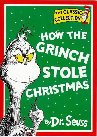 "How The Grinch Stole Christmas - Paperback copy published in 1997 by Harper/Collins - ""The Grinch hated Christmas! The whole Christmas season! / Now, please don't ask why. No one quite knows the reason."" Dr. Seuss's small-hearted Grinch ranks right up there with Scrooge when it comes to the crankiest, scowling holiday grumps of all time. For 53 years, the Grinch has lived in a cave on the side of a mountain, looming above the Whos in Whoville."