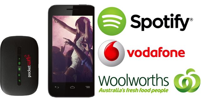Good Deal: Get the Vodafone Smart 4 Mini & 3G Pocket WiFi at Woolworths for $79 – Includes 3 months Spotify Premium Membership.  Woolworths are offering a back to school special which includes the Vodafone Smart 4 smartphone, which comes with a 3-month Spotify premium membership, AND a 3G PocketWiFi Broadband device for $79. [READ MORE HERE]