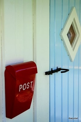 playhouse?  LOVE the door!!!  fun postbox too