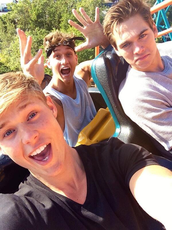 Mason Dye, Dylan Sprayberry, + Cody Saintgnue = Roller Coaster Selfie
