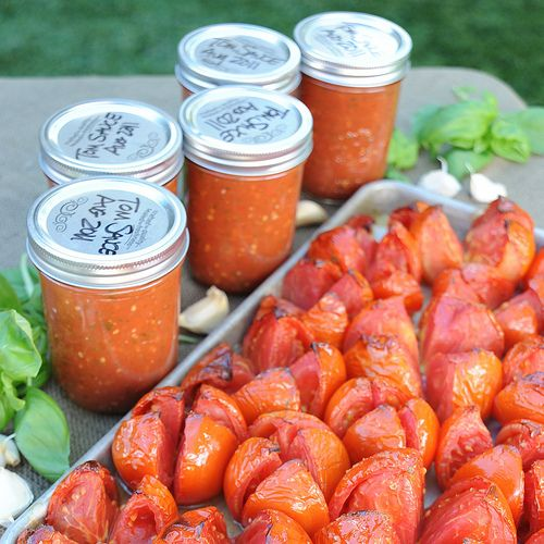Roasted Tomato Sauce for the Freezer: Enjoy the Summer's Bounty in February!