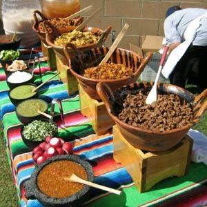 Mexican food wedding