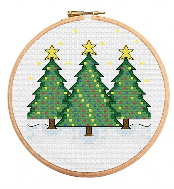 Christmas Trees Cross Stitch Pattern https://stitchme.gifts/product/christmas-trees-cross-stitch-pattern/