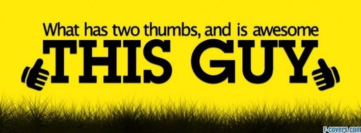 two thumbs at profile pic facebook cover | Facebook | Pinterest ...