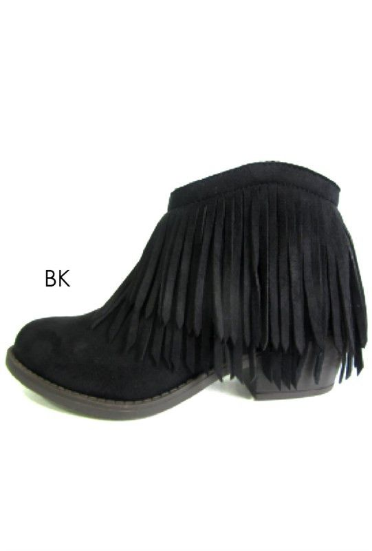 Jervis Double Fringe Bootie (2 colors available)