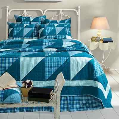 REGATTA LUXURY CALIFORNIA KING BED QUILT By VHC BRANDS/COUNTRY PRIMITIVE BEDDING