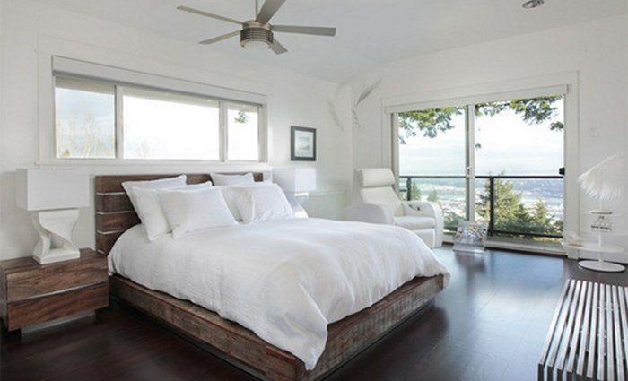 lit en palette rustique, formidable suggestion meuble en palette, atmosphère zen, propice à la détente