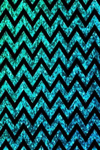 Turquoise glittered chevron background