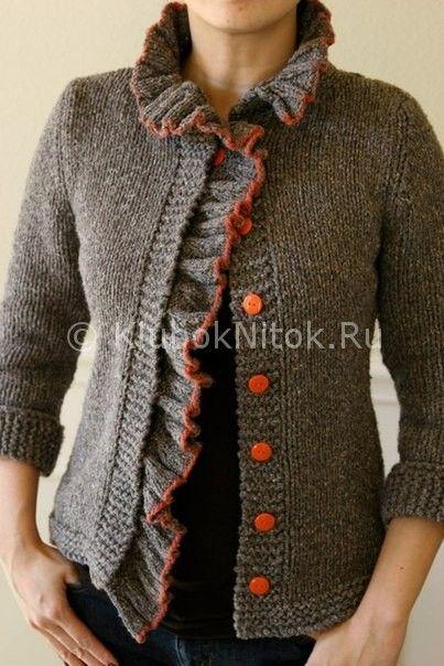 Жакет «Бодлер» | Вязание для женщин | Вязание спицами и крючком. Схемы вязания.