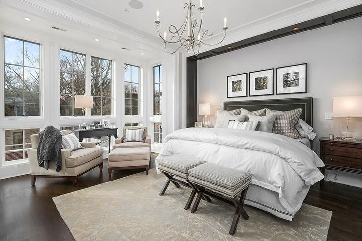 Gray Master Bedroom Bedrooms Pinterest Gray Bedding Nooks And Twists