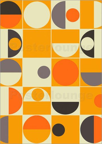 panton orange art poster by art studio favourable to order