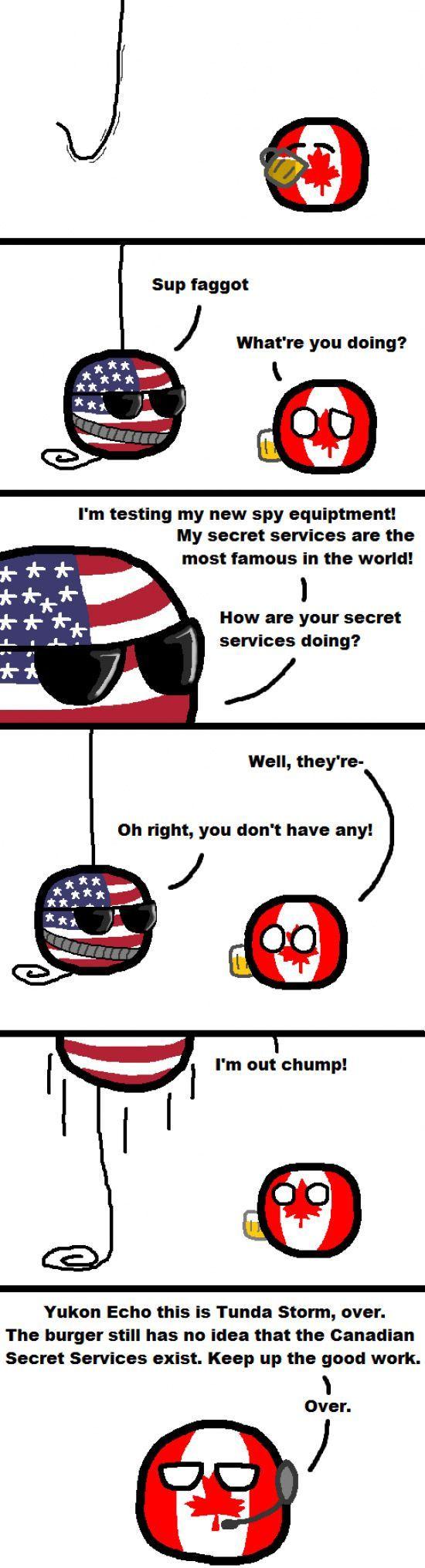 The Canadian Secret Service - 'the burger' ha