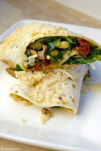 Wraps met spinazie en geitenkaas - Lovemyfood.nl