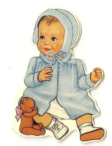 Vintage baby card ~♥Baby Blue♥~