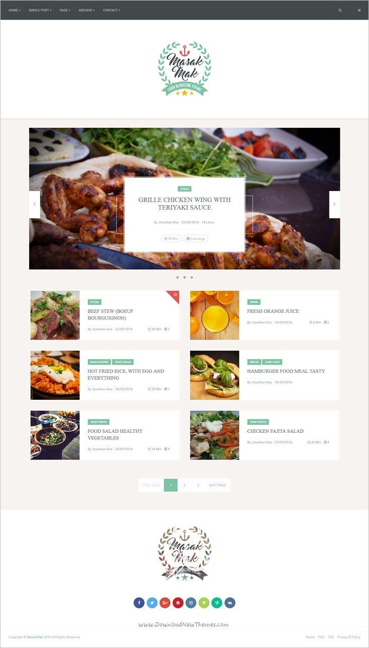15 mejores imgenes de food restaurant webdesign en pinterest masakmak recipe and food wordpress theme forumfinder Choice Image