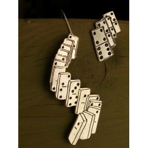 Domino , earrings