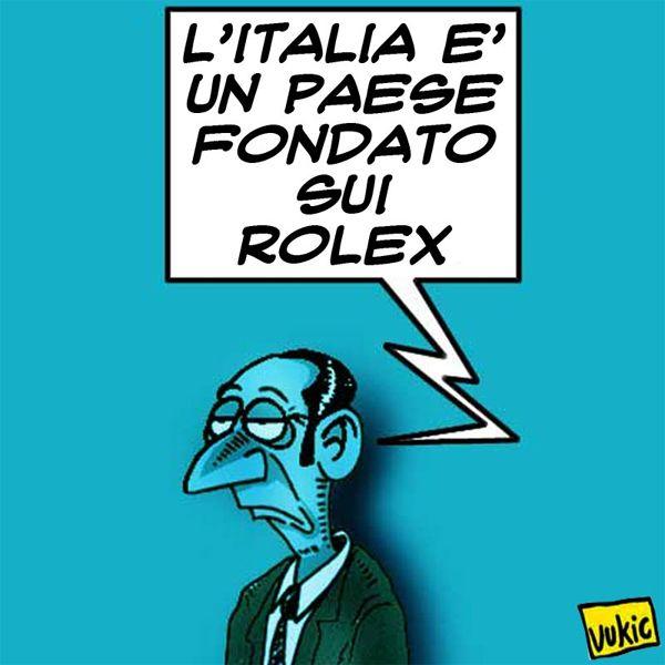 """I """"fondamentali"""" dell'#economia italiana…un #rolex. #Italy #Lupi #Vicari #Morace #Alfano"""