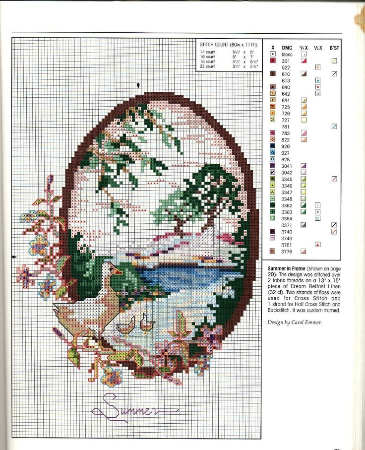 """""""As Months Go By: Summer"""" by Carol Emmer. Free sewing pattern graph."""