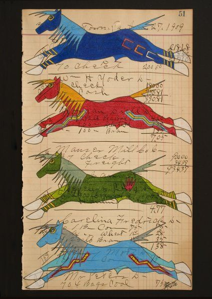 John Pepion ledger art, title and date unknown.