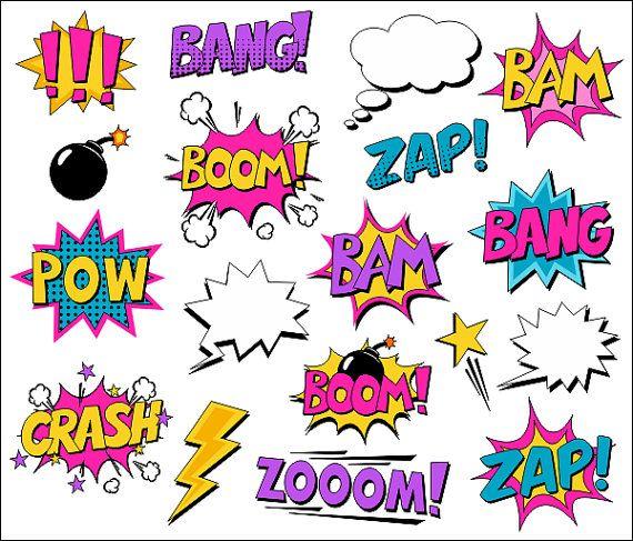 Burbujas de superhéroe chica gráfico Comic libro por YarkoDesign