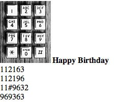 "Ha! - How to play ""Happy Birthday"" on the phone"