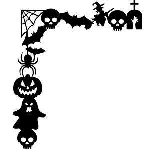 fr halloween window silhouettes