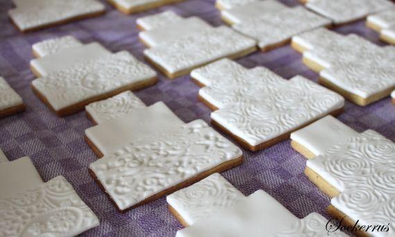 Underbara små kakor med sockerpasta!
