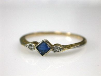 FAVORITE, switch gems and diamonds. Antique Ring, $800