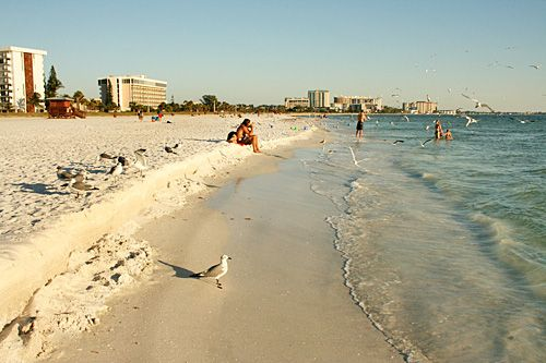 Lido Key, Florida. (supposed to be great shell hunting at low-tide).